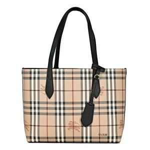 Burberry Small Reversible Haymarket Check/Leather